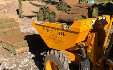 Wee jim landscapes with Dumper at United Kingdom