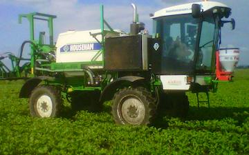 R&ja gowler t/a lawrence bridge farms with Self-propelled sprayer at Wimblington
