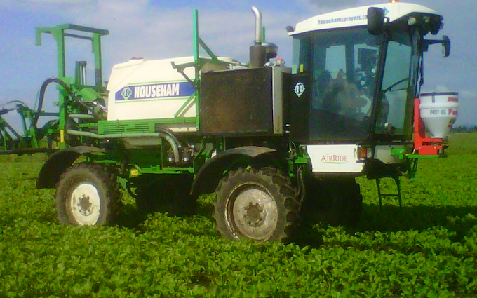 R&ja gowler t/a lawrence bridge farms with Self-propelled sprayer at Wimblington