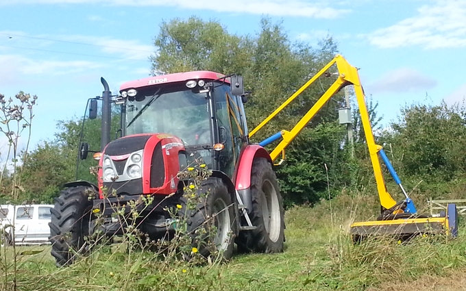 Prs agrimech with Hedge cutter at Worlingham