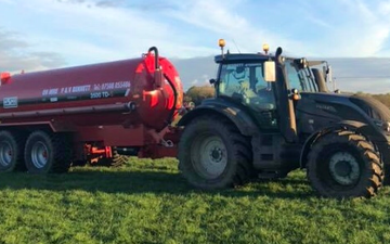 P&v bennett with Slurry spreader/injector at Lancaster
