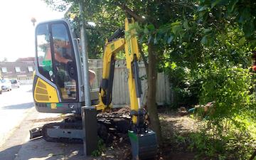 Rl service & anlæg med Minigraver ved Ringsted