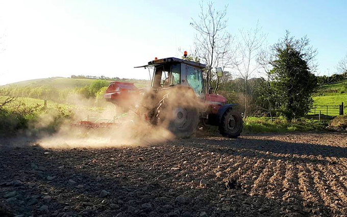 Jf agri contracts  with Precision drill at Comber