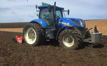 Johnstone contracting ltd with Power harrow at Tokanui