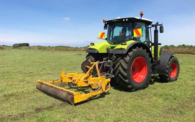 Kalin contracting ltd with Meadow aerator at Manaia