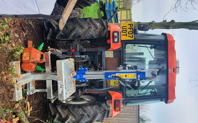 Acc contracting with Log splitter at Bramley