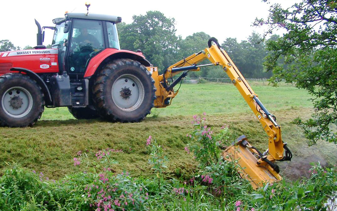 Horn agricultural with Hedge cutter at United Kingdom
