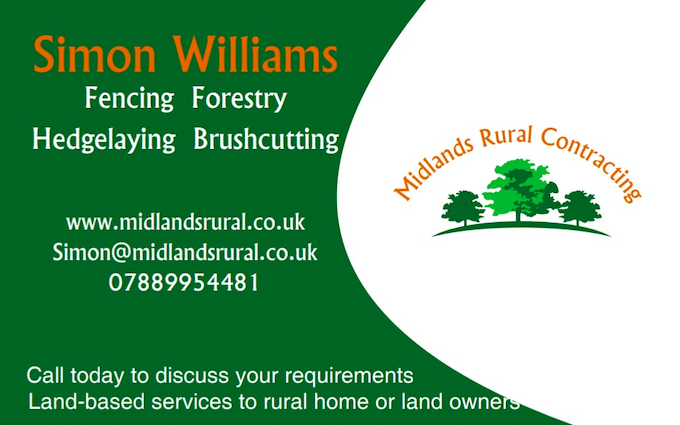 Midlands rural contracting with Chain saw at Astley Cross
