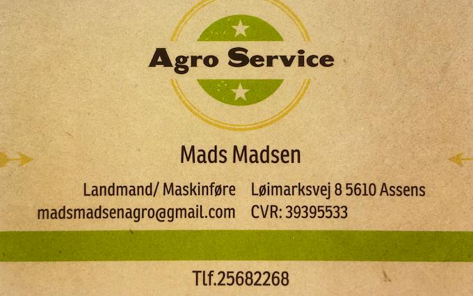 Agro service med Servicebil ved Ebberup