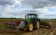 Lamyman grange contractors with Potato harvester at Digby