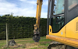 C j phillips contracting with Excavator at Thornbury
