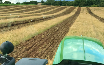 O chantry agricultural services with Stubble cultivator at Darsham