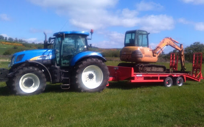 M. j. stanworth agricultural contractor with Tractor 100-200 hp at Foulridge