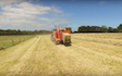 Hinton contracting ltd with Large square baler at Stratford