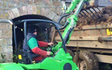 Ewen j fraser with Skid steer loader at United Kingdom