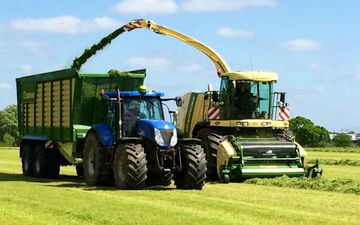 Hooftrimming ltd with Forage harvester at United Kingdom