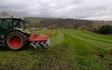 A.d.s agricultural contractors  with Tine harrow at Muddiford