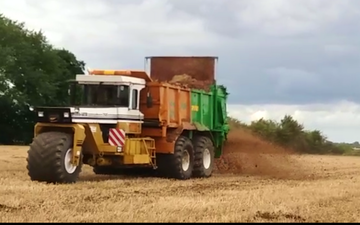 A j agriculture services  with Manure/waste spreader at Lowestoft