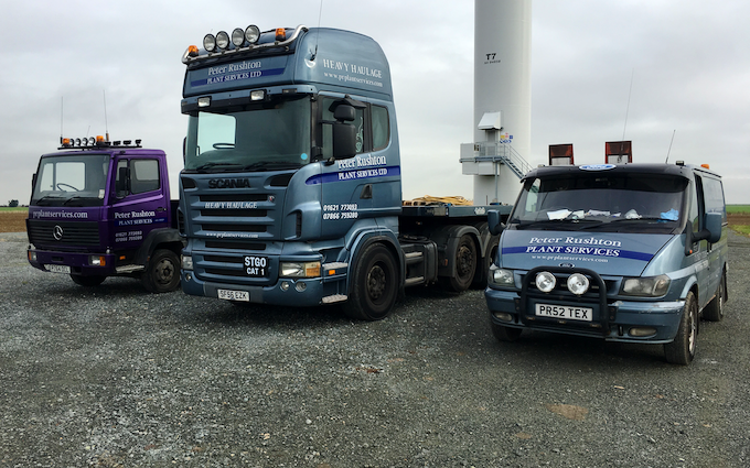 Peter rushton plant services ltd with Truck at North End