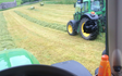 F. fryer & sons  with Round baler at Ilkley