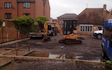 Hazell agricultural services with Mini digger at Souldern