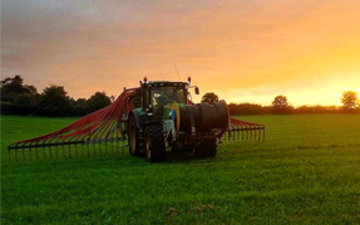 A r richards  with Slurry spreader/injector at United Kingdom