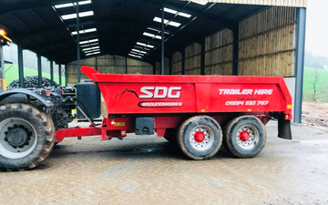 Sdg groundwork solutions ltd with Tipping trailer at Newnham