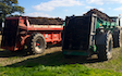 Manford farm contractors  with Manure/waste spreader at Oswestry