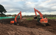 John clements contracting ltd with Excavator at Camomile Way
