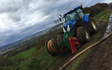 D popham contracting  with Slurry pump at Hensol