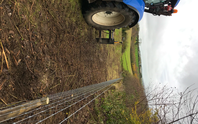 T.white agri services with Fencing at Seaborough