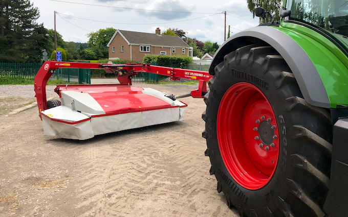 D.j. o'neill agri contracts with Mower at Gwernaffield