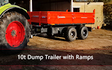 Red-lands plant  with Flat trailer at Highclere