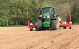 David marshall agricultural contractor with Precision drill at Albrighton
