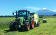 Doin it ltd contracting with Round baler at Manaia