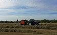 R d woodcraft with Round baler at Gamlingay