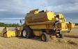 Alternative fertiliser solutions  with Combine harvester at Sutton Benger