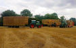 Stud farm contracting  with Flat trailer at United Kingdom