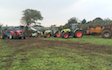 Tovey agri contracting  with Manure/waste spreader at West Harptree