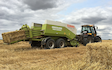 Grassland farm services with Large square baler at Greenland Lane