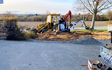 Skodsbøl maskinstation med Minigraver ved Broager