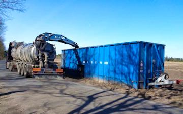 Allestrup maskinstation med Buffertank ved Nørager