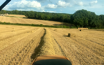 A.b.c ground care  with Large square baler at Woolaston