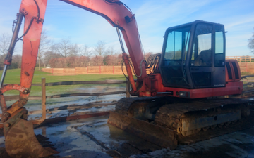 K.smith field services  with Ditch cleaner at Finchampstead