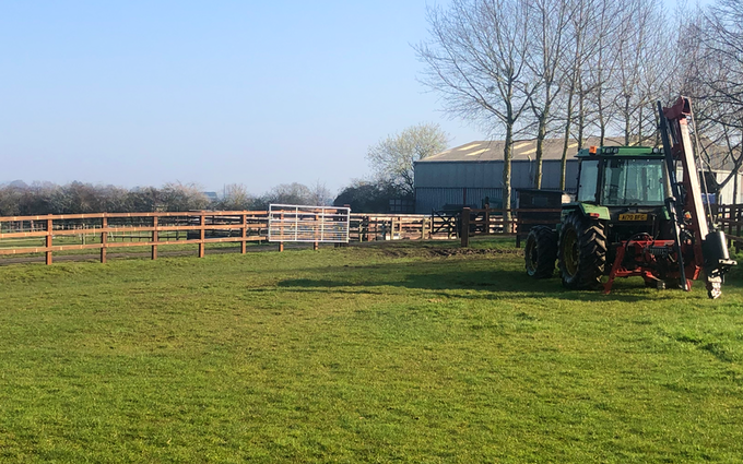 Dominic jeynes agricultural contracting with Fencing at Longdon