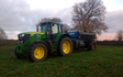 A & sj charlesworth farmers and contractors with Manure/waste spreader at Loxley