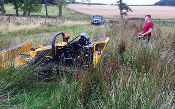 Remote services scotland with Verge/flail Mower at Saint Andrews
