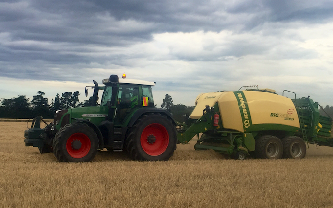 Mid canterbury baling ltd with Large square baler at Cavendish