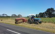 Doin it ltd contracting with Small square baler at Manaia