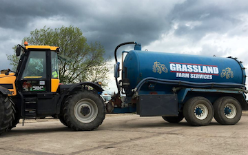 Grassland farm services with Vaccum tank at Greenland Lane